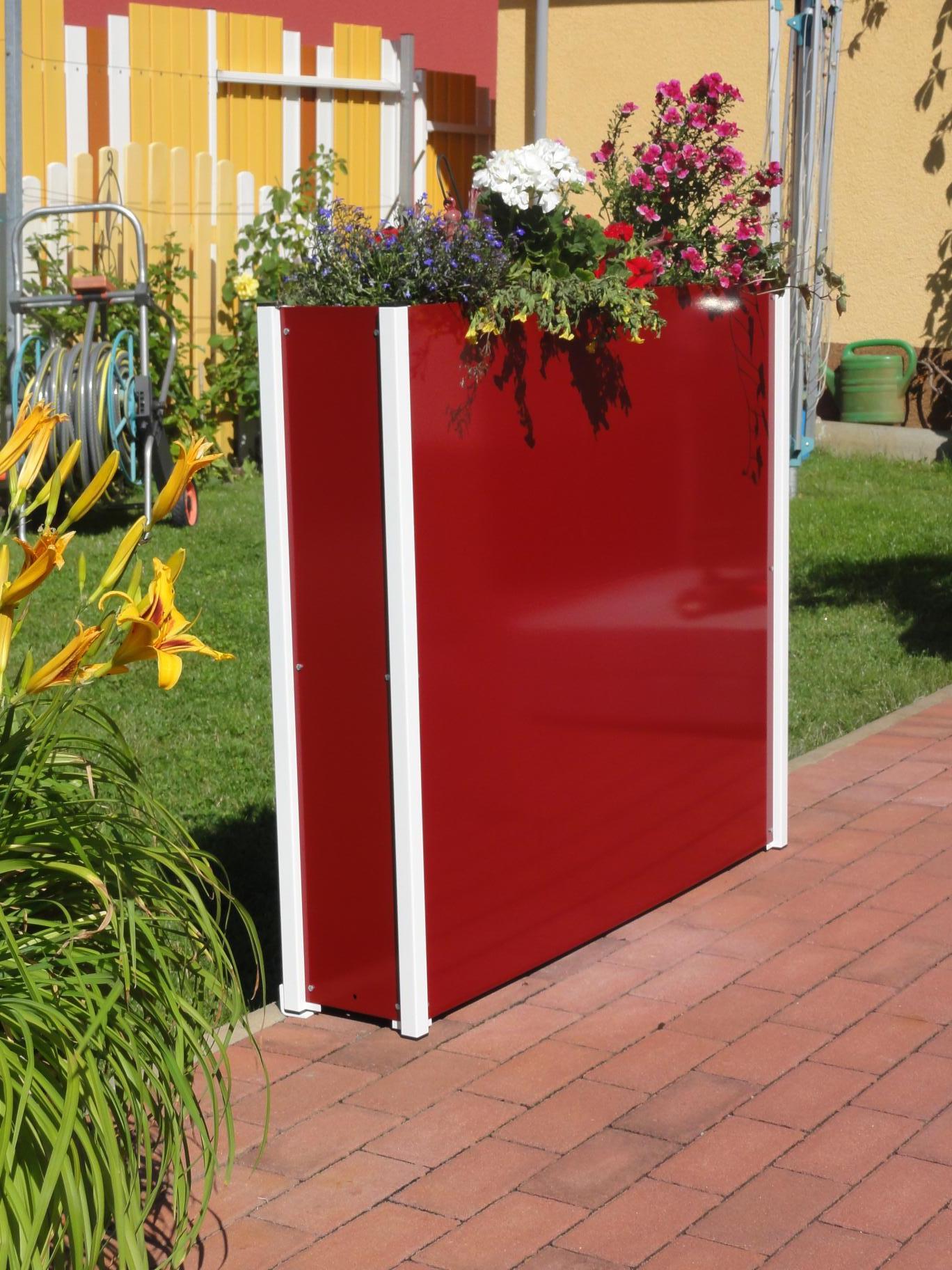 Sichtschutz Mit Blumenkasten Kunststoff