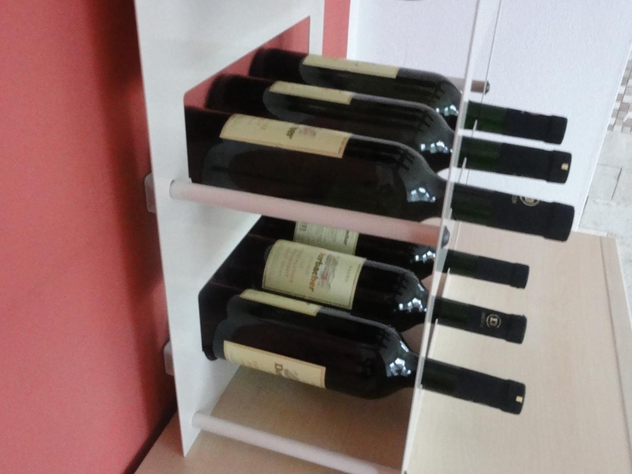 Weinregal Für 9 Flaschen Aus Metall Design Hänge Regal Farbe Nach