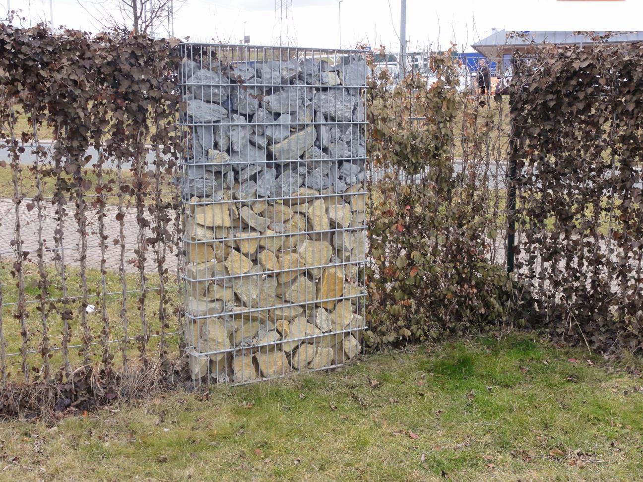 Gabionen Sichtschutz Zaun Alles Fur Haus Und Garten Aus Metall
