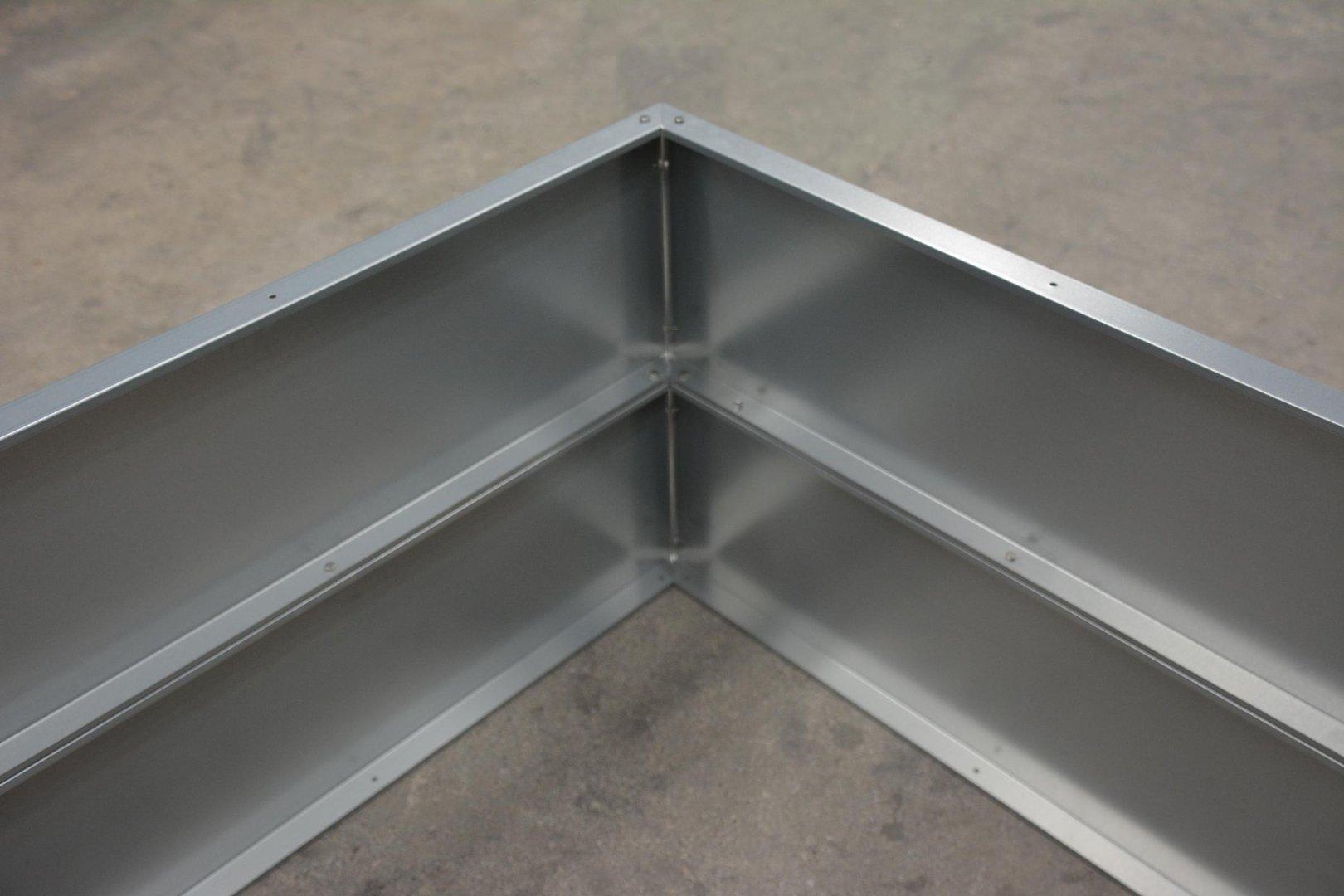 hochbeet metall mit schneckenzaun metall 1mx1m 45 cm hoch. Black Bedroom Furniture Sets. Home Design Ideas