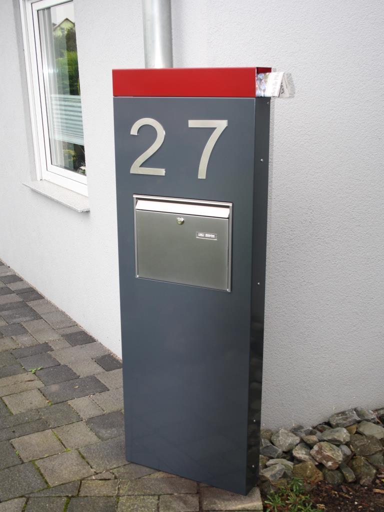 Briefkasten Stele 150 X 50 X 12 Cm Farbe Nach Farbkarte