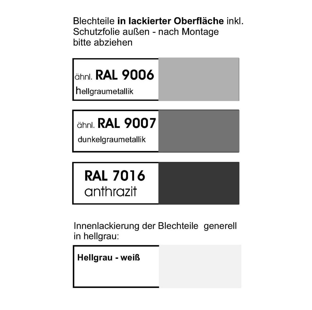 Ral Karte: Scooterbox Lackiert In Ral 9006 / 9007 / 7016 Mit Bodenplatte
