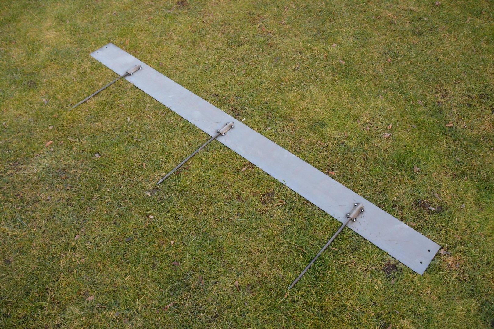 Rasenkanten Cortenstahl 195 cm x 15 cm x 3 mm - 1er Set