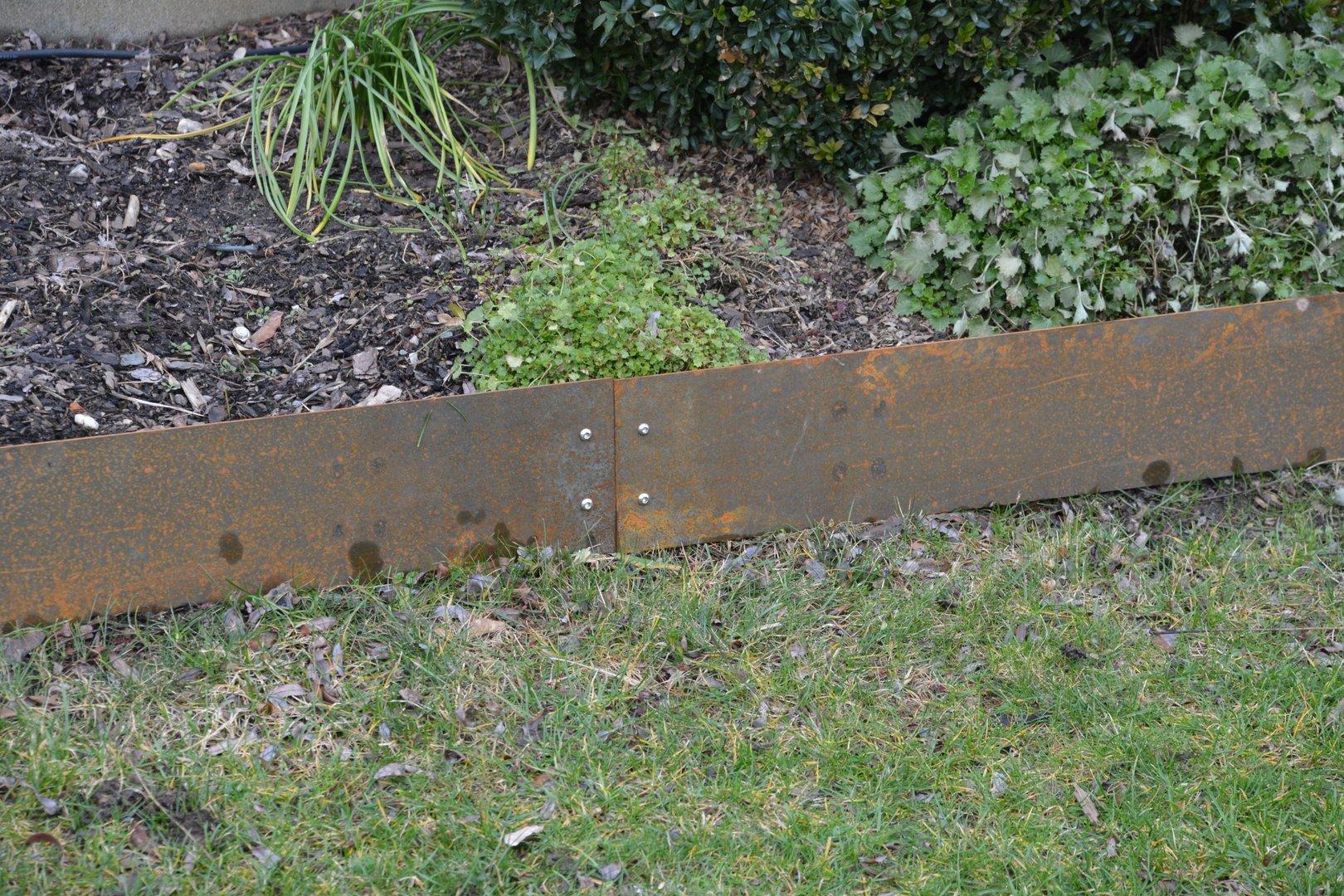 Rasenkanten Cortenstahl 195 Cm X 15 Cm X 3 Mm 1er Set