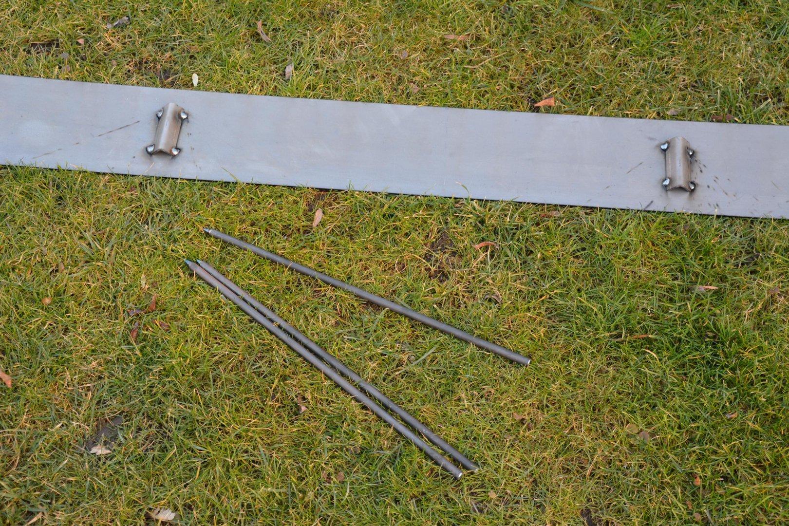 Rasenkanten Cortenstahl 195 cm x 15 cm x 3 mm - 3er Set