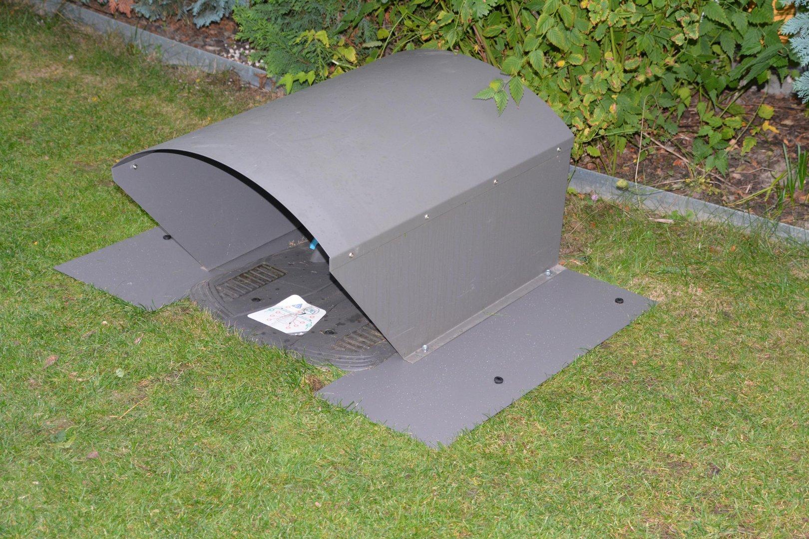 bodenplatten f r m hroboter garage verzinkt aus metall. Black Bedroom Furniture Sets. Home Design Ideas