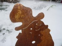 Rostfiguren - Winter aus Corten