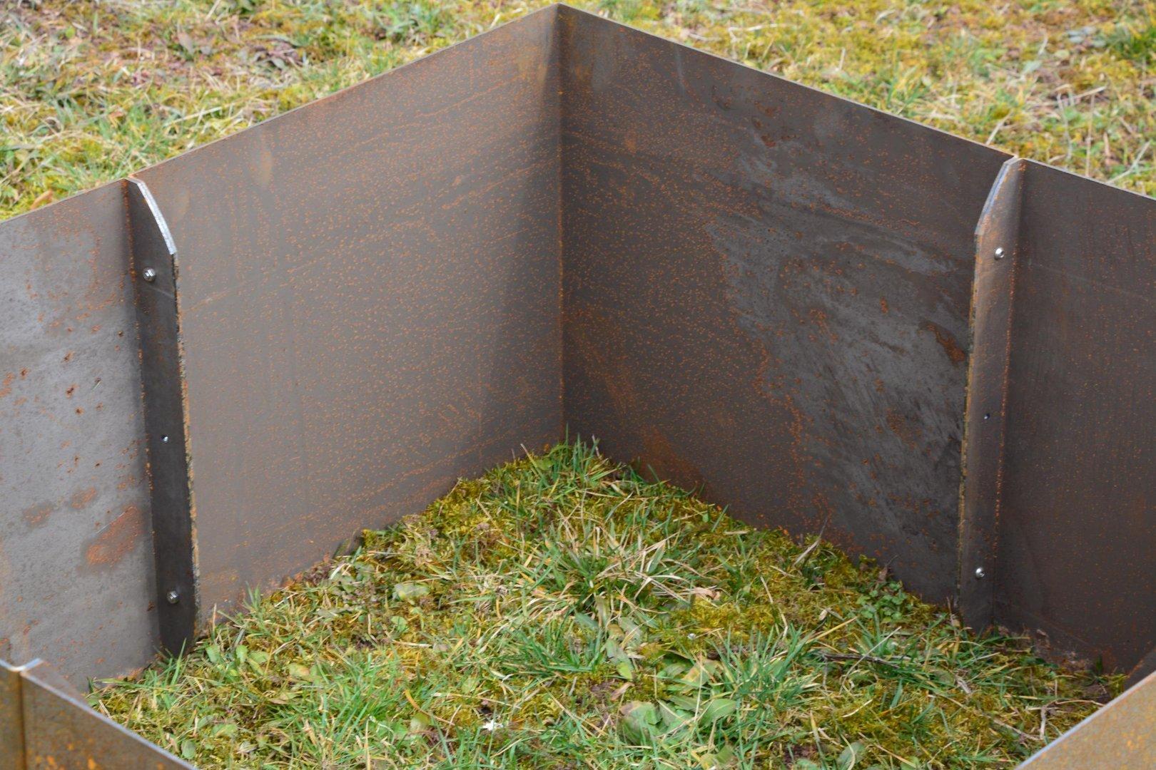Hochbeet Cortenstahl Edelrost Gerade 1 X 1 X 05 M Grundmodul