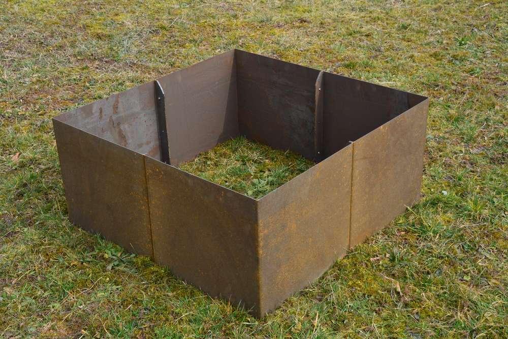 Hochbeet Cortenstahl Edelrost Gerade 1 X 1 X 0 9 M Grundmodul