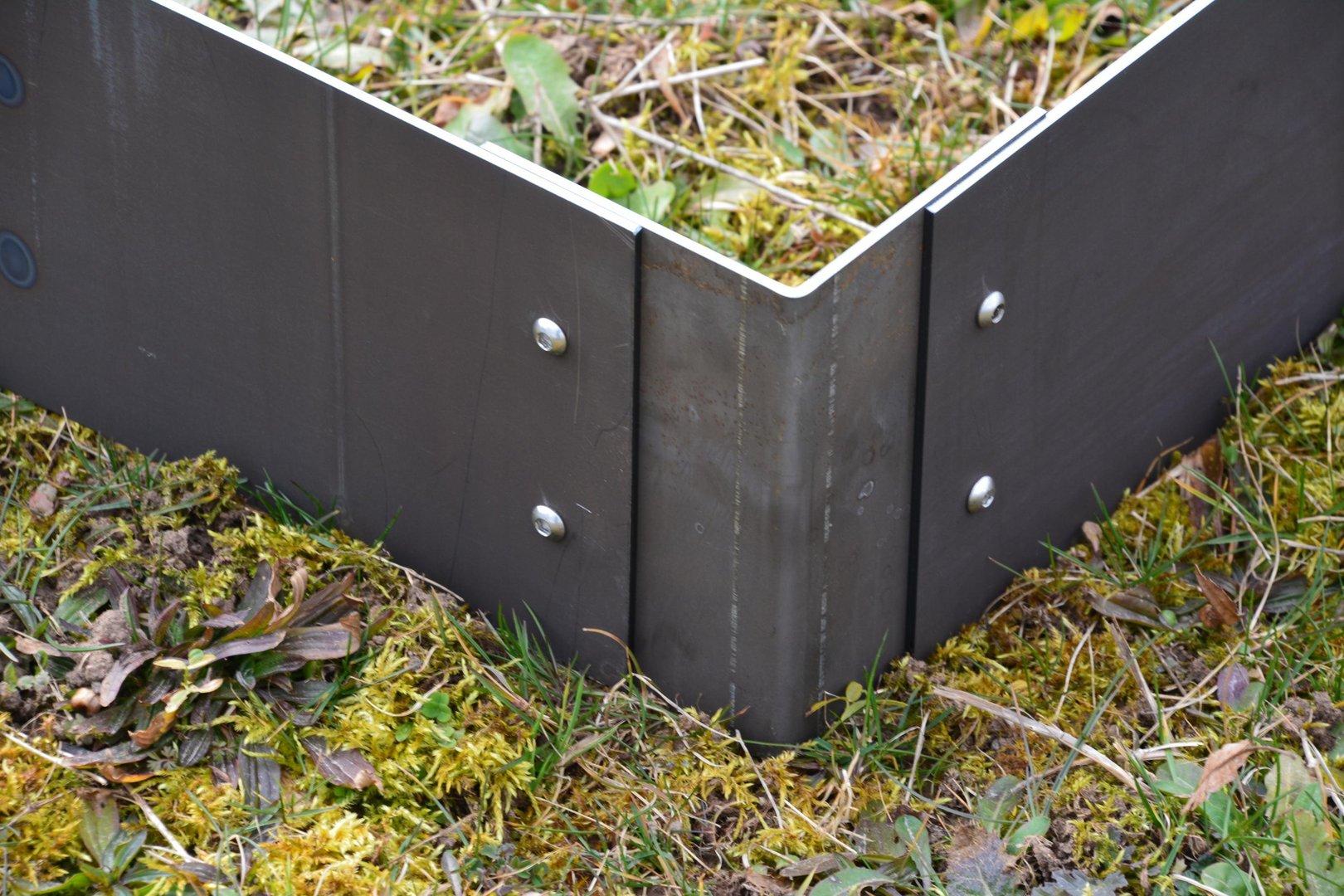 rasenkanten cortenstahl eckprofil 20 cm 90 grad. Black Bedroom Furniture Sets. Home Design Ideas