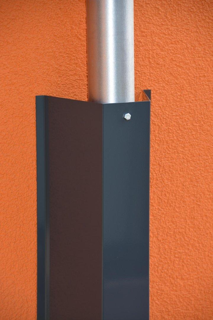 waschb rschutz f r regenfallrohr in farbe f r rohr. Black Bedroom Furniture Sets. Home Design Ideas