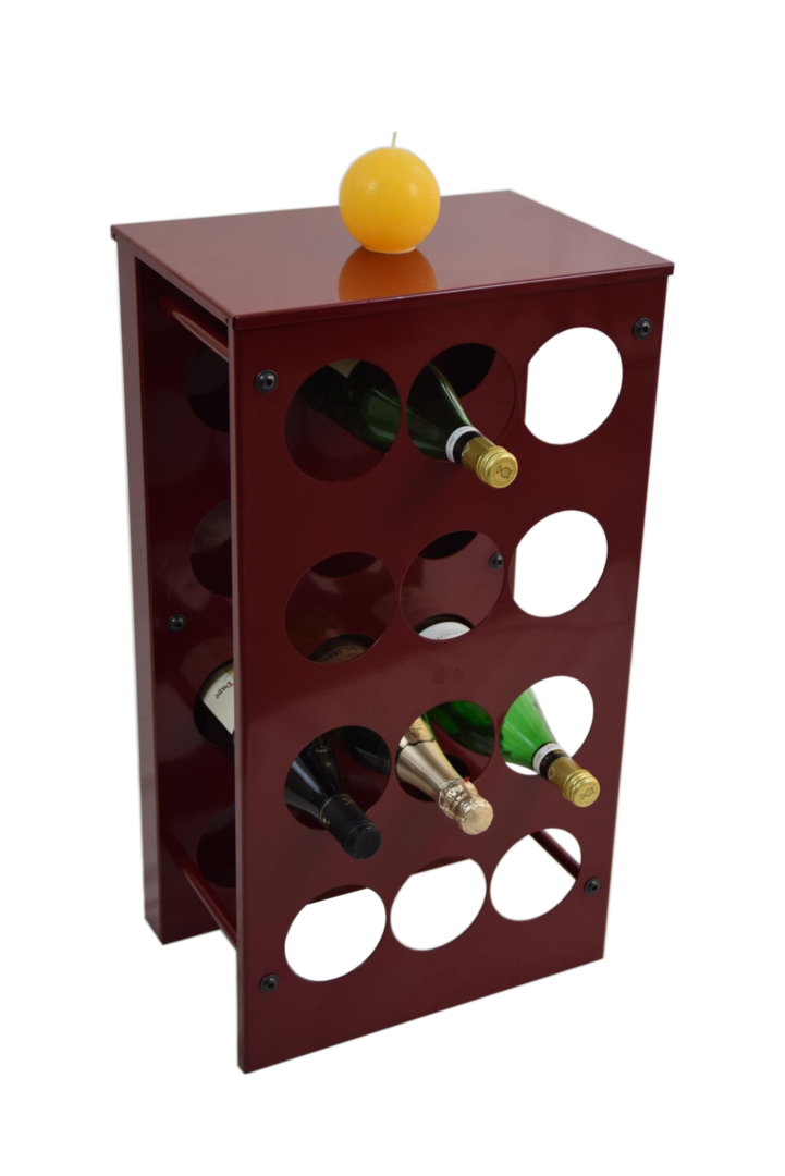 weinregal flaschenregal vino aus metall h he 68 cm. Black Bedroom Furniture Sets. Home Design Ideas