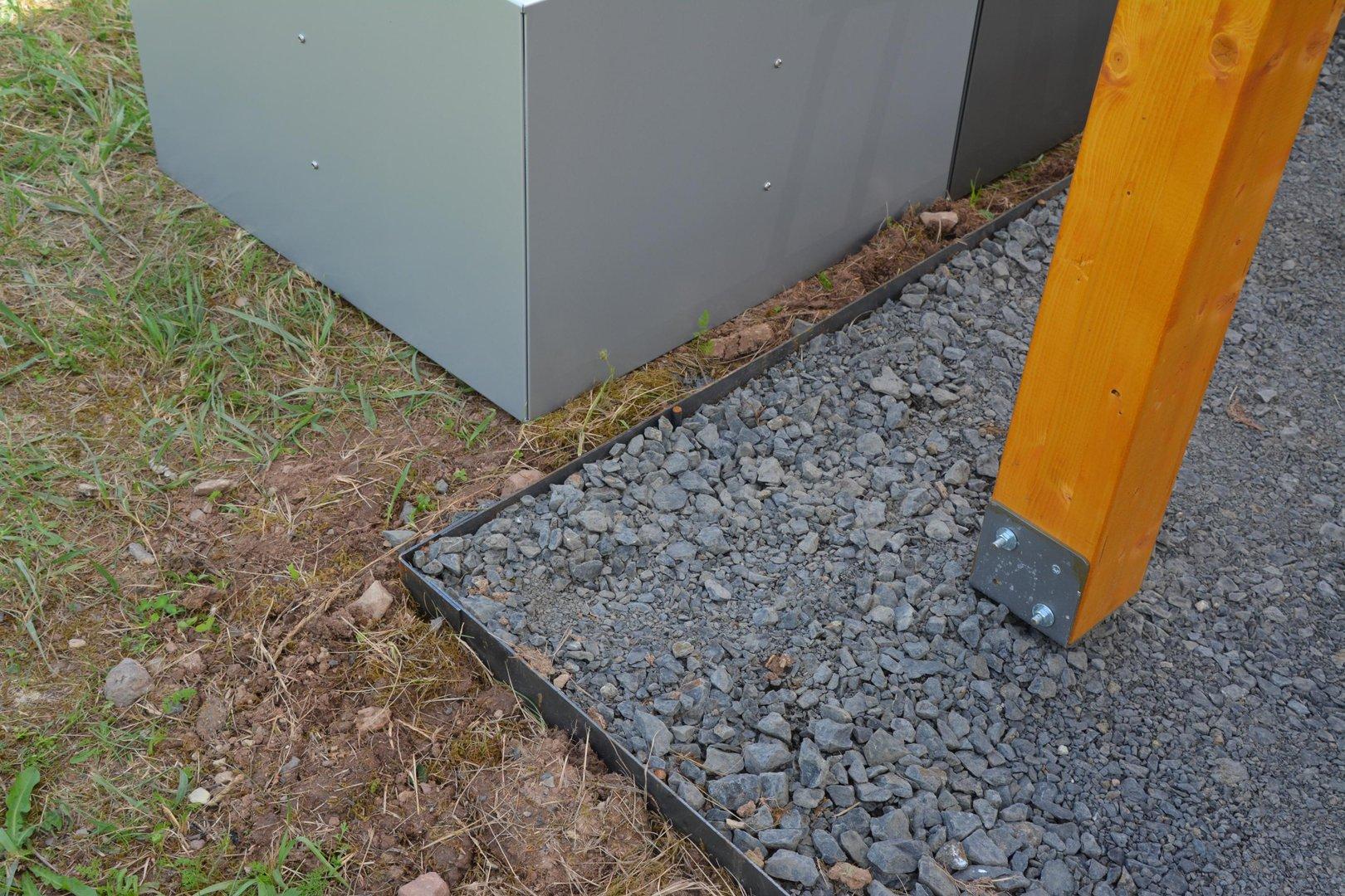 3er Set Rasenkanten Cortenstahl 170 cm x 20 cm x 3 mm