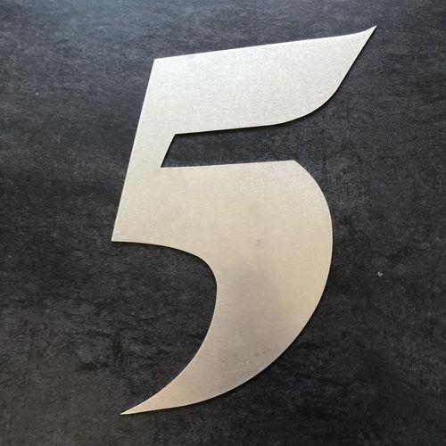 Hausnummer Modern hausnummer aus edelstahl höhe 40 cm modern hausnummer 5