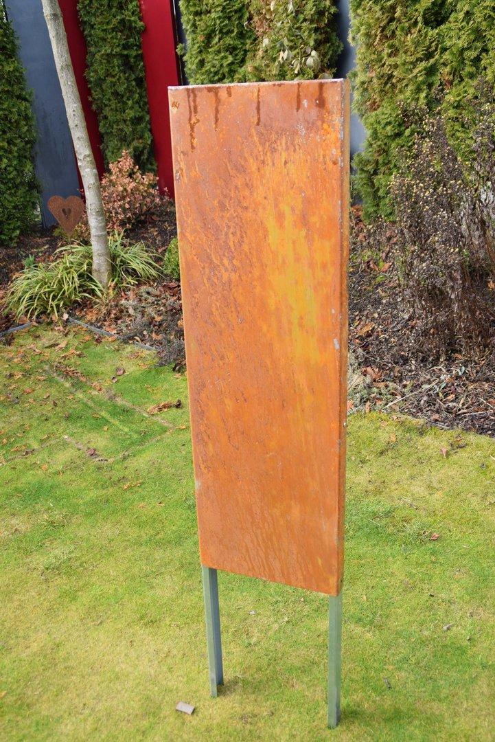 Sichtschutz Edelrost Cortenstahl 110 x 75 cm - Rost Deko