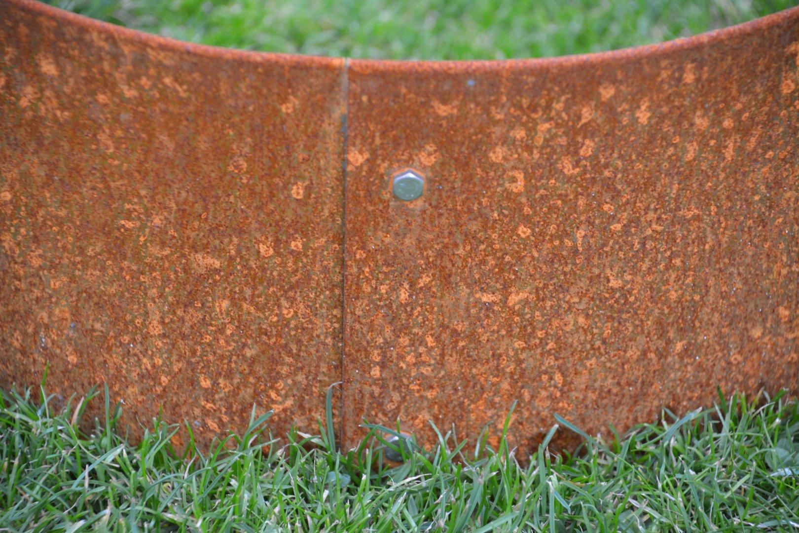 Rasenkanten Cortenstahl Edelrost 118 cm x 17,5 cm x 1 mm 3er Set